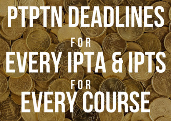 Deadlines for PTPTN Online Applications at Every UA & IPTS for Every Course