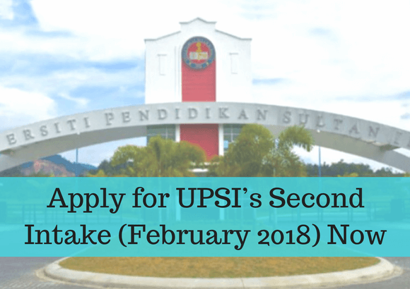 Apply for UPSI's Second Intake (February 2018) Now